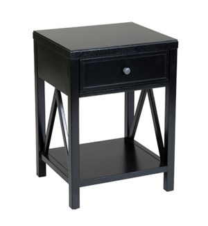 Auburn Traditional One Drawer Wooden Accent Side Table