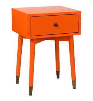 Omaha Modern One Drawer Wooden Accent Side Table