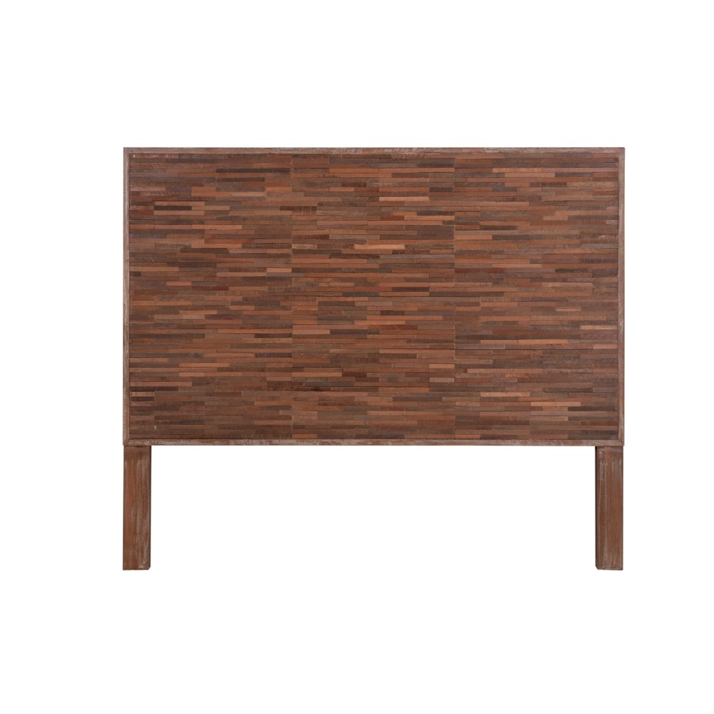 Maurice Headboard with Wooden Brix Style Detail