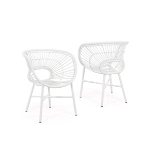 Origin Outdoor Chair-White (25,5x23x33)