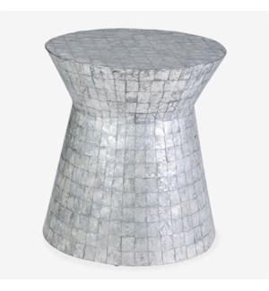Grey Capiz End Table