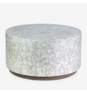 (LS) Round Grey Capiz Coffee Table
