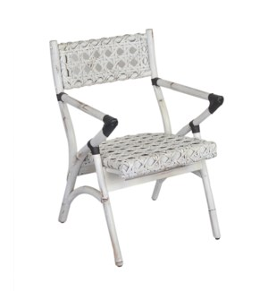 Sahara Folding Arm Chair-White Aged(21x23x32)