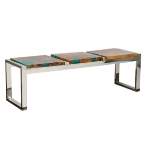Uptown Icy wood bench - green ice (55x16x17)....