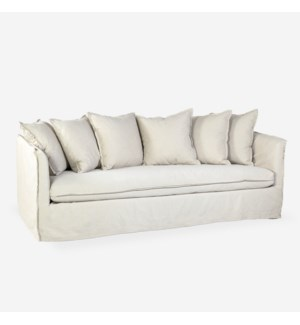 "* Amelia 84"" Slipcovered SofaFabric: Boda SandSeat: Down WrapScatter Back: Blend Down"