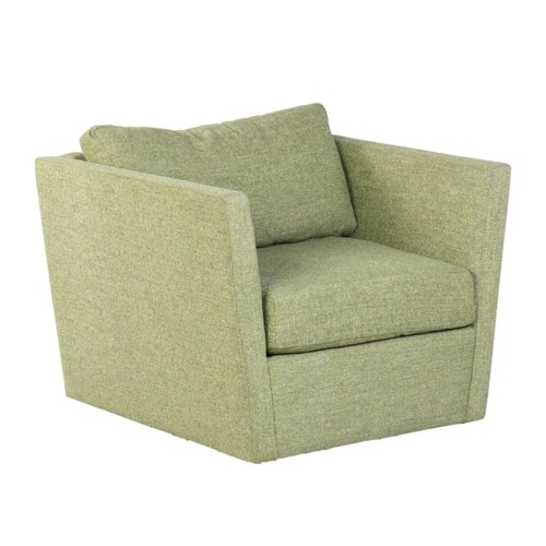 * Soma Swivel Club ChairFabric: Tremor CloverSeat: Down WrapBack: Blend Down