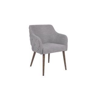 Rafe Dining Chair with Wood Legs,Grey & Oakwood