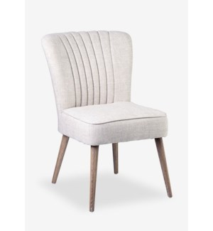 (LS) Paige Upholstered Modern Chair - Off White MOQ 2 (package: 2pcs/box) price is per piece (26...