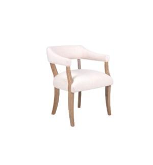 Hans Horshoe Arm Chair, Cream, Oak Frame