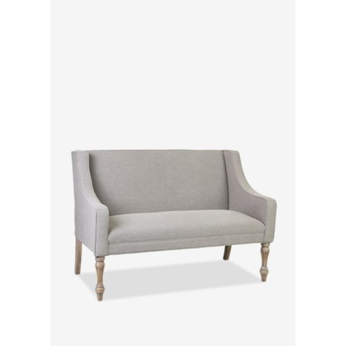 Theo Upholstered Settee (55x29.5x38)