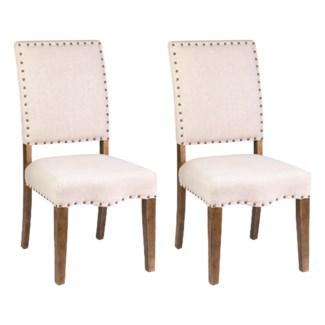 Hannah Dining Chair 2pcs/box - Beige Linen - 20x25x40