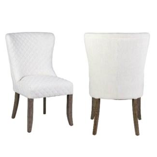 Freya Dining Chair - Cream Linen - 23x25x37 MOQ 2