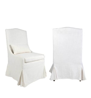 Arabella Slipcovered Dining Chair - MOQ 2 - (package: 2pcs/box) price is per piece