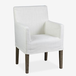 Orla Arm Chair - Cream Linen - 24x24x35