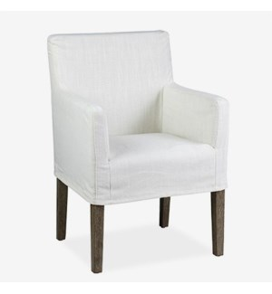 Orla Slipcovered Arm Chair - Cream Linen