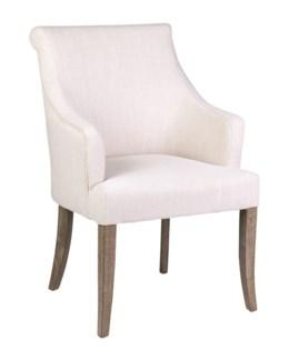 Harper Dining Arm Chair - Cream Linen - 24x27x37.5