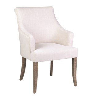 Harper Dining Arm Chair - Cream Linen