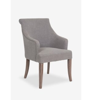 Harper Dining Arm Chair - Grey Linen