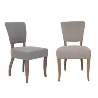 Logan Dining Chair - MOQ 2-  Fabric: Taupe linen texture(20.5x24.5x35.6)