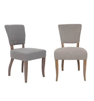 Logan Dining Chair - MOQ 2-  Fabric: Taupe linen texture (package: 2pcs/box) price is per piece(20.