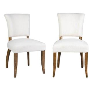 Logan Dining Chair  MOQ 2 - Cream Linen  - 20x25x35.5