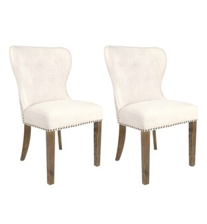 Paulie Dining Chairs (Set of 2) - Beige Linen - 23x23x36 (package: 2pcs/box) priced per pair