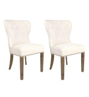 Paulie Dining Chair MOQ 2- Beige Linen - 23x23x36 (package: 2pcs/box) price is per piece