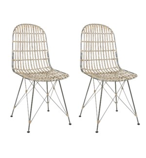 Jane Open Weave Dining Chairs (Set of 2) (package: 2pcs/box) priced per pair