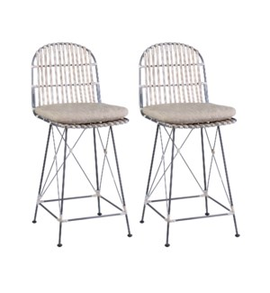 Jane Open Weave Counterstools (Set of 2) - (package: 2pcs/box) priced per pair