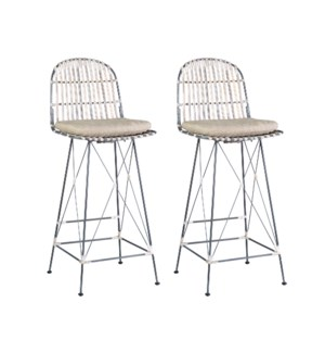 Jane Open Weave Barstool - MOQ 2 (package: 2pcs/box) price is per piece