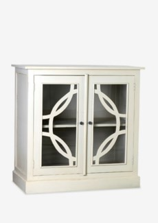 (LS) Remington in Circle Cabinet with 2 Doors-Oyster Color (39.25x19.75x39.25)....