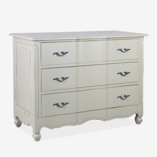 (LS) Emma 3-Drawer Dresser with Guilded Handles (47x22x35)