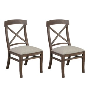 Adam Dining Chair With Upholstered cushion - Grey wash  MOQ 2 (package: 2pcs/box) price is per piece