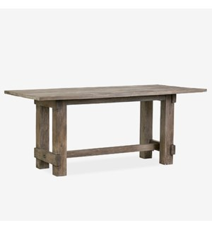 Chauncey Rectangle Dining Table - Grey Patina top and base (72X36X30)
