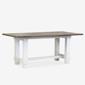 Chauncey Rectangle Dining Table with Grey Patina on Top (71X39.5X31)