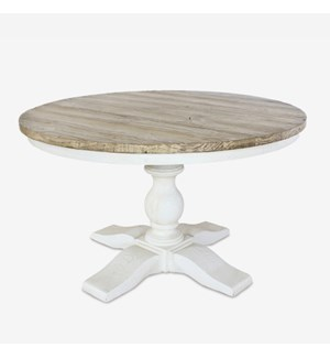 (LS) Chauncey Round Pedestal  Dining Table with  Reclaimed Fir Top (51x51x30)..