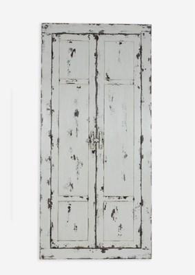 (LS) Chauncey Rustic Vintage Rectangular Floor Mirror (34X42X72)..