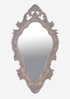 "(LS) Annabell 30"" oval mirror -Grey ......"