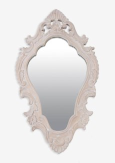 "(LS) Annabell 30"" oval mirror -White ...."