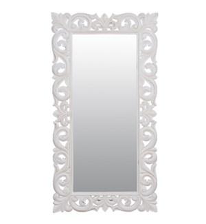 "Antoinette 58"" rectangle mirror M-Vintage White"