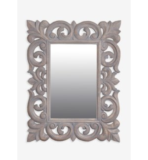 "(LS) Antoinette 31""H rectangle mirror- Grey...."
