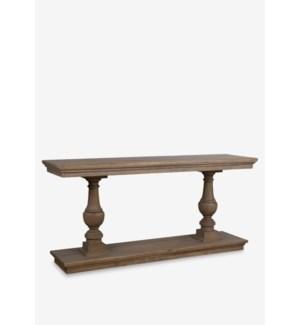 "Balister 71"" solid wood console table ..Solid mindi wood..wood: walnut finish..(71X20X34).."