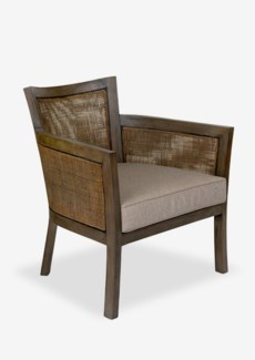 Blake wood frame with fine rattan weave..(30X30X34)
