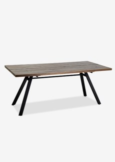 "(LS) Bremen 72"" solid dining table with metal base..(72X35X31).."