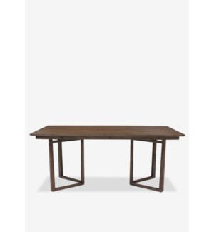 "(LS) Calvin 71"" solid teakwood dining table..Solid teakwood...(71X35X30).."