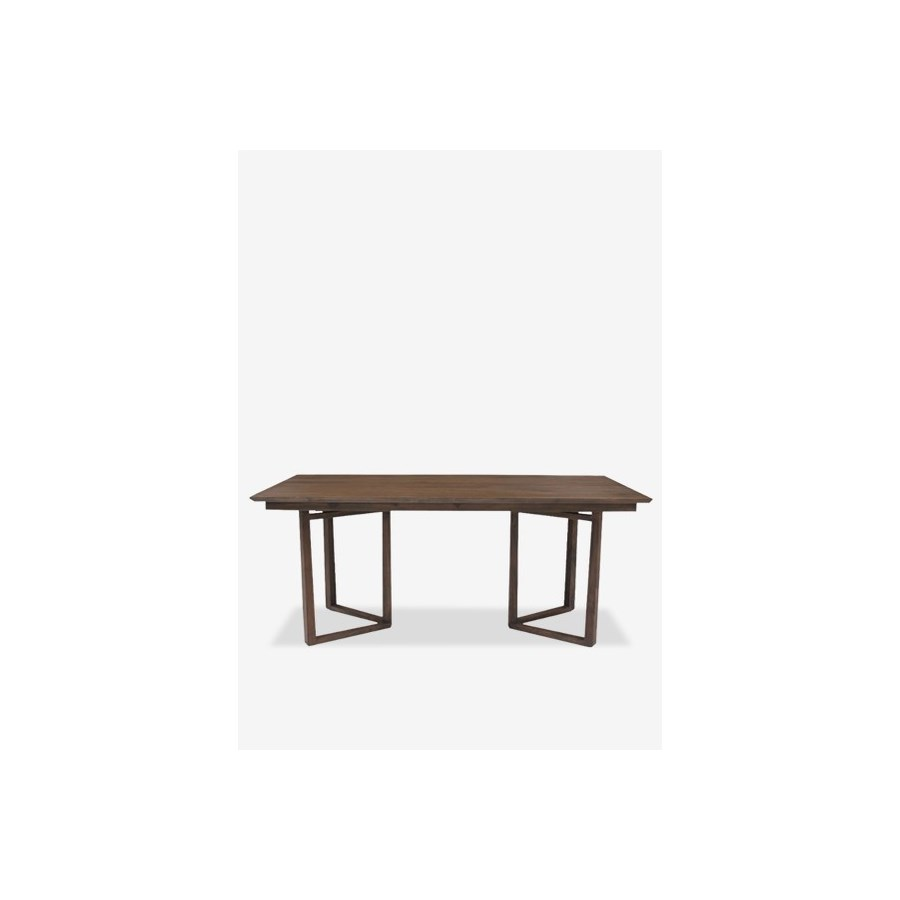 "(LS) Calvin 71"" solid teakwood dining table..Solid teakwood...(71X35X30).."