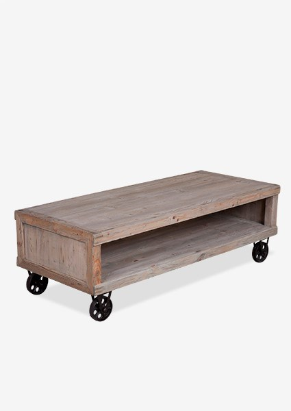 Fine Cologne Soft Industrial Coffee Table With Metal Castors K D Evergreenethics Interior Chair Design Evergreenethicsorg