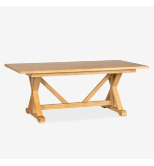 Farmhouse Dining Table - Natural Mango Wood in Honey (2 BOXES PER ITEM)
