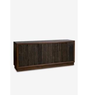 (SP) Forest 3 door cabinet with reclaimed teakwood panels..(70X18X31)..