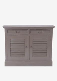 (LS) Marcy Shutter 2 Door Cabinet (2 doors & 2 drawers).-Smoke Grey.44x11,5x34,5